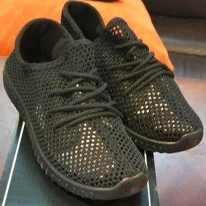 Black Mesh Sneakers - Size 6 1/2